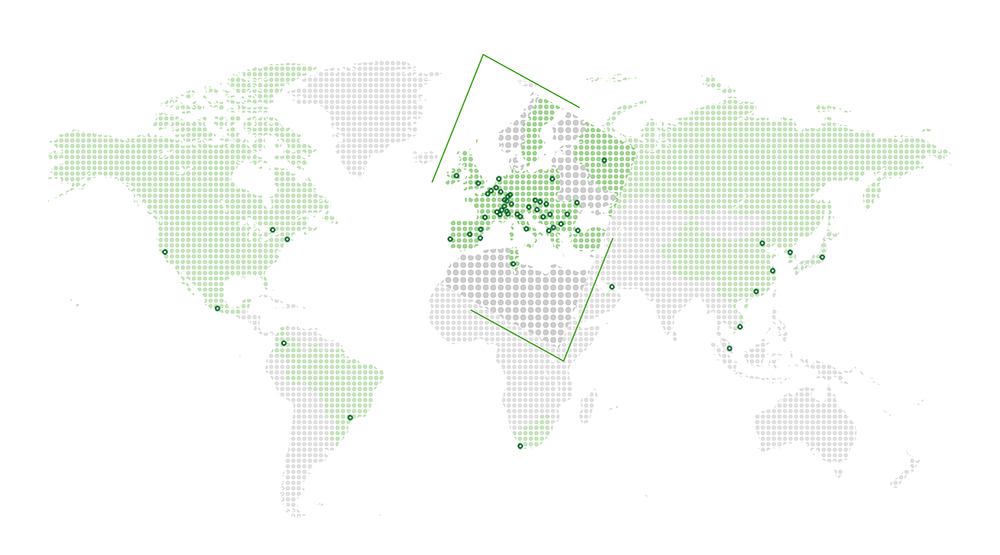 Global coverage allows to accompany clients wherever they are